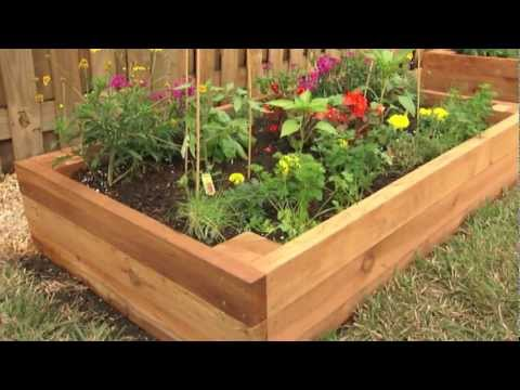 How to build a raised garden bed everybody loves tuscany for Making raised garden beds