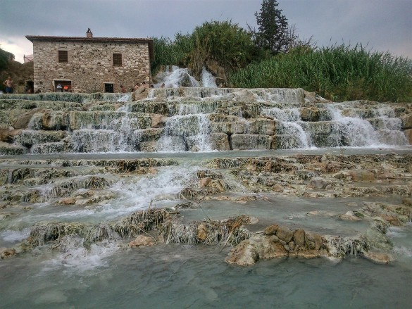 Tuscany's most famous thermal baths are located in?