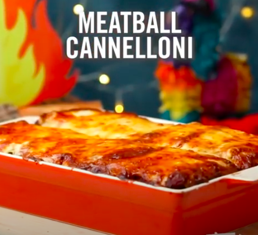 meatball cannelloni